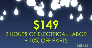 Coupon for electrical work.