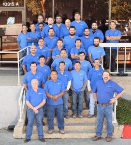 Efficient Air Conditioning & Electric - Commercial construction technicians in front of our offices