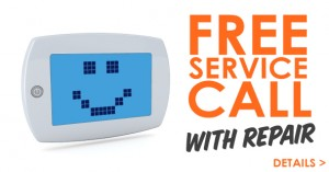 Free service call with repair valid September 2016