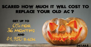 Halloween replacement ad