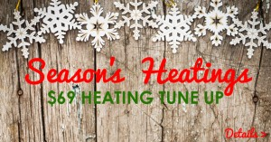 Coupon for heating tune up.