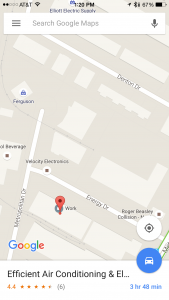 Efficient Air Conditioning & Electric in Google Maps.