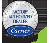 Factory Authorized Carrier Dealer logo