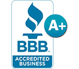 BBB Accredited Business A plus rating logo