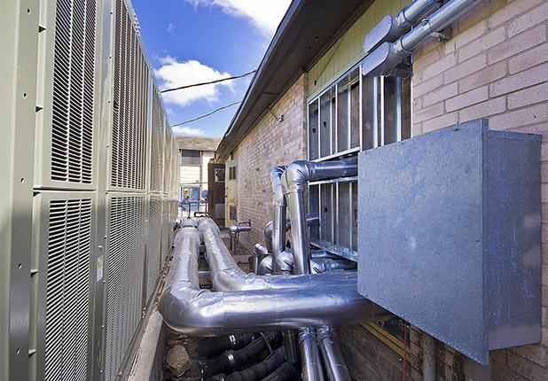 Fairway Village exterior air conditioning ducts