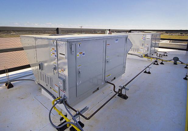 Hays YMCA rooftop air conditioning unit