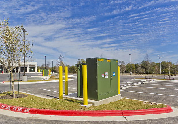 Lakeline Retail Center parking lot control unit