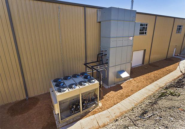 exterior AC unit located at Westlake Athletic & Community Center